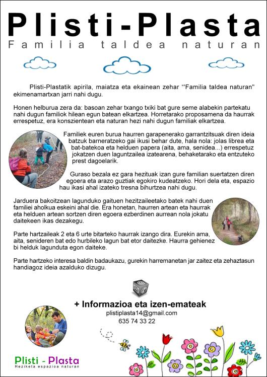 Kartela_Familia Taldea Naturan_Euskara